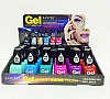 N2043D-GEL EFFECT NAIL POLISH/24PC