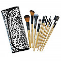SH-13BK- SHUE 13PCS MAKEUP BRUSH SET BLACK /3pcs
