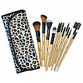 SH-13BR SHUE 13PCS MAKE UP BRUSH SET-BROWN