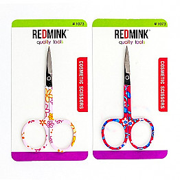 1073 REDMINK FLOWER SCISSOR/12PC
