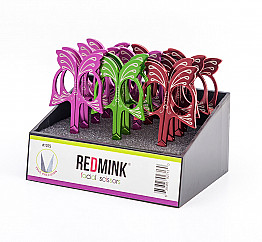 BMG-1075 REDMINK FACIAL SCISSORS/12PC