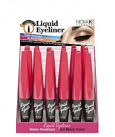 AA-41 NICKA K LIQUID EYELINER JET BLACK/24PCS
