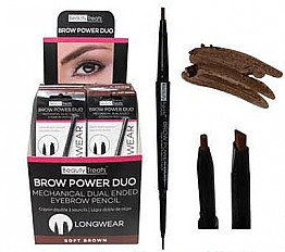 842-01: BEAUTY TREATS BROW POWER DUO-SOFT BROWN/24PC