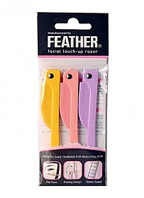 FLS-P FEATHER FLAMINGO FACIAL TOUCH UP RAZER PACK OF 3PCS/12PK