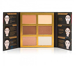 SFO102-SYMPHONY FACE OBSESSION HIGHLIGHTER,CONTOUR&BRONZER PALETTE /6PC