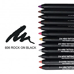 IT-606 24HRS TATOO EYELINER-ROCK ON BLACK/12PCS