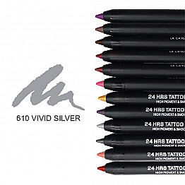 IT-610 24HRS TATOO EYELINER-VIVID SILVER/12PCS