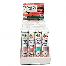 9409 ITALIA DELUXE NATURAL OIL LIP TREATMENT/24PC