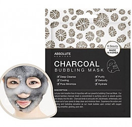 ABNY-ACS04 ABSOLUTE NY-CHARCOAL BUBBLING MASK/6PCS