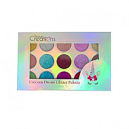 EG15-UNICORN BEAUTY CREATION GLITTER PALETTE/12PCS