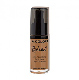 CLM396-LA COLORS : RADIANT FOUNDATION-CHESTNUT/3PCS