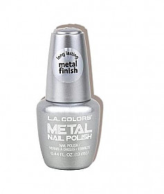 CNL61 CRUSHED DIAMOND LA COLOR METAL NAIL POLISH /3PCS