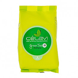 MT003- CELAVI- GREEN TEA 30PC- CLEANING TISSUE/6PK