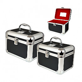 SH-PB-5020 SHUE-2PCS MAKE UP CASE-BLACK