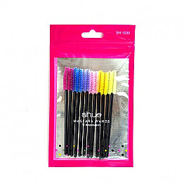 BMG-SH-1030 SHUE-12CTS DISPOSABLE MASCARA WANDS 12 BAGS