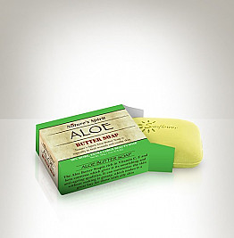 SS11-BUAL-50 NATURE'S SPIRIT ALOE-BUTTER SOAP-ALOE/6PCS