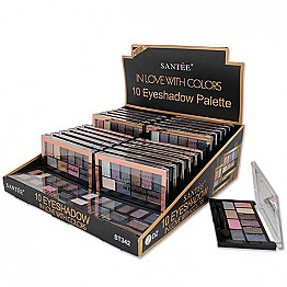 ST-342 SANTEE-10COLOR EYESHADOW&PALETTE TESTER/24PCS