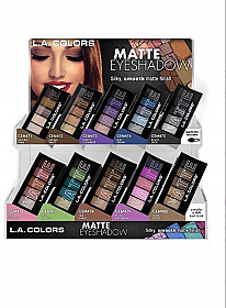 CAD57.1-LA COLORS MATTE EYESHADOW SET/12OPCS