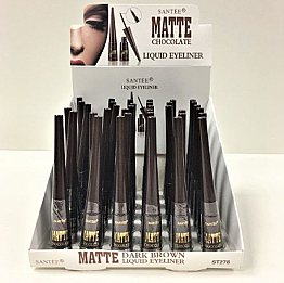 ST278 SANTEE MATTE CHOCOLATE LIQUID EYELINER /36PCS