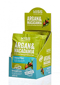 KAMS050D1-KISS ARGAN MACADAMIA SHAMPOO 50ML/PACK OF 12