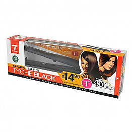 "WB-NK-TB-10 TYCHE BLACK 1"" CERAMIC FLAT IRON"