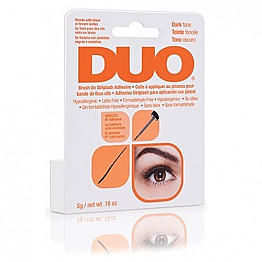 DUO-AI56896 DUO EYE LASH EYELASH GLUE BRUSH-DARK 0.25OZ/6PCS