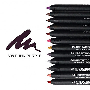 IT-608 24HRS TATOO EYELINER-PUNK PURPLE/12PCS