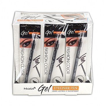 NB-GE01 NABI GEL EYELINER-BLACK/24PCS