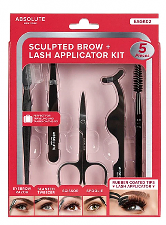 EAGK02-SCULPTED BROW+LASH APPLICATOR KIT/1PC