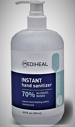 MEDIHEAL INSTANT HAND SANITIZER 16.9OZ/500ML/24PC