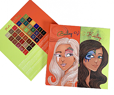 ES104-BAILEY VS KAILEY DUO SHADOW PALETTE/6UNIT