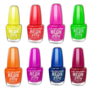 CNL-LA COLOR NEON JELLY POLISH/3PC