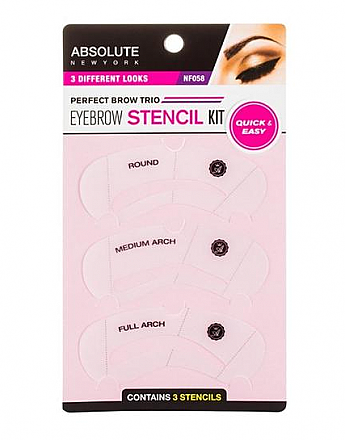 ABNY058-PERFECT BROW TRIO - EYEBROW STENCIL KIT/6PCS