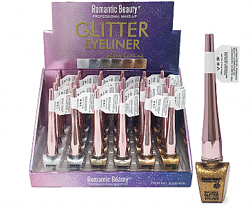 E2001GS-GLITTER LIQUID EYELINER/24PC