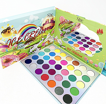 S.HE COLORFUL ICE CREAM 35COLOR OALETTE/6PCS